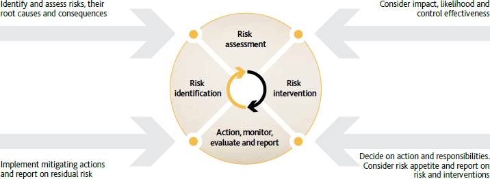 Risk management process [diagramme]