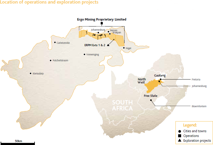 Location of operations and exploration projects [map]